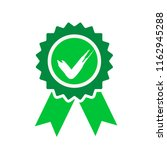 green approved or certified... | Shutterstock . vector #1162945288
