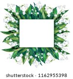 lilies of the valley. square ... | Shutterstock . vector #1162955398