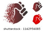 fist icon in fractured ... | Shutterstock .eps vector #1162956085