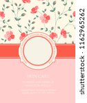 beautiful greeting card. book... | Shutterstock .eps vector #1162965262