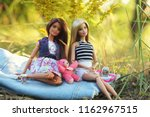 a beautiful barbie with white... | Shutterstock . vector #1162967515