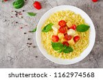 millet porridge with cheese ... | Shutterstock . vector #1162974568