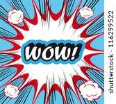 pop art explosion background... | Shutterstock .eps vector #116299522