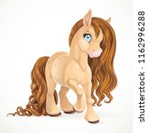 cute pony with brown mane... | Shutterstock .eps vector #1162996288