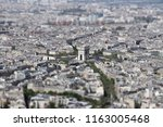 arc de triomphe from the eiffel ... | Shutterstock . vector #1163005468