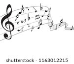 music notes abstract. music... | Shutterstock .eps vector #1163012215
