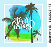 sweet dreams. unique hand drawn ... | Shutterstock .eps vector #1163029495