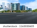urban road asphalt pavement and ... | Shutterstock . vector #1163030605