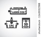 laser co2  laser cutting  cnc... | Shutterstock .eps vector #1163032588