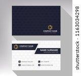 business model name card luxury ... | Shutterstock .eps vector #1163034298