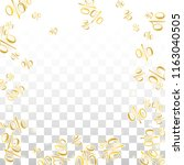 luxury vector gold percentage... | Shutterstock .eps vector #1163040505