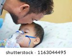 father with beard and mustache... | Shutterstock . vector #1163044495