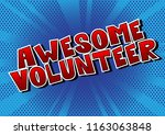awesome volunteer   comic book...   Shutterstock .eps vector #1163063848