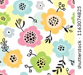 simple seamless pattern with... | Shutterstock .eps vector #1163074825