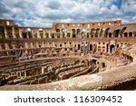 colosseum the most well known... | Shutterstock . vector #116309452
