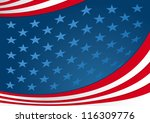 fourth of july background... | Shutterstock .eps vector #116309776