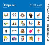 people icon set. family showing ... | Shutterstock .eps vector #1163099182