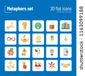 metaphors vector icon set.... | Shutterstock .eps vector #1163099188