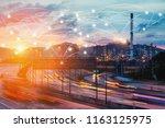 global partner connection of...   Shutterstock . vector #1163125975