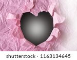 blurred image of a hole of... | Shutterstock . vector #1163134645