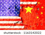 flags of america and china is... | Shutterstock . vector #1163142022