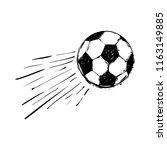 flying ball. graphic black... | Shutterstock .eps vector #1163149885