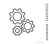 gear icon  outline icon ... | Shutterstock .eps vector #1163153212