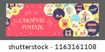 horizontal banner with... | Shutterstock .eps vector #1163161108