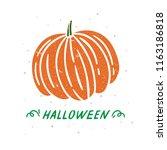 halloween pumpkin illustration. ... | Shutterstock .eps vector #1163186818