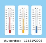 celsius and fahrenheit... | Shutterstock . vector #1163192008