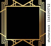 art deco gatsby inspired ... | Shutterstock .eps vector #1163193712