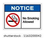 notice no smoking allowed... | Shutterstock .eps vector #1163200042