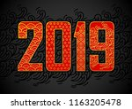 vector number 2019 with... | Shutterstock .eps vector #1163205478