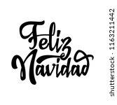 feliz navidad   badge with...   Shutterstock . vector #1163211442