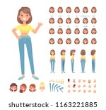 front  side  back  3 4 view... | Shutterstock .eps vector #1163221885