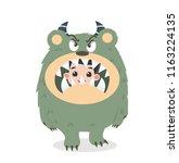 cute kid halloween character in ... | Shutterstock .eps vector #1163224135