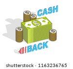 cash back concept  cash money... | Shutterstock .eps vector #1163236765