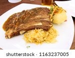 traditional germany food  spare ... | Shutterstock . vector #1163237005