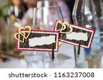 name plates with double hearts... | Shutterstock . vector #1163237008