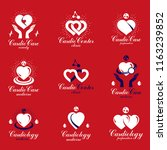 heart shapes composed using... | Shutterstock .eps vector #1163239852