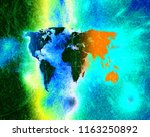 world map abstract background | Shutterstock . vector #1163250892