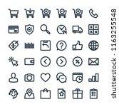 online shopping and e commerce... | Shutterstock .eps vector #1163255548
