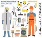 profession and occupation set.... | Shutterstock .eps vector #1163262688