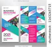 business brochure template in... | Shutterstock .eps vector #1163265715