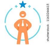confidence salaryman icon in... | Shutterstock .eps vector #1163266615