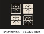 gift box ribbon bow free... | Shutterstock .eps vector #1163274805