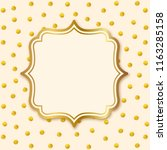 greeting card with label. gold... | Shutterstock .eps vector #1163285158