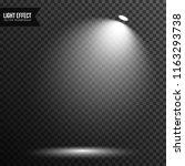 spotlight illuminated scene ... | Shutterstock .eps vector #1163293738