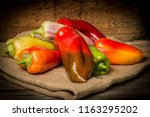 red  green and yellow bell... | Shutterstock . vector #1163295202