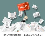 businessman needs help under a... | Shutterstock .eps vector #1163297152
